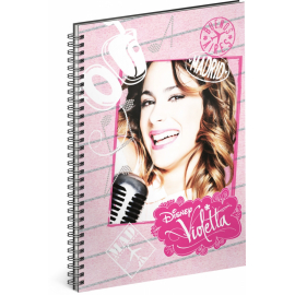 Spiral notebook Violetta – Music, unlined, A5