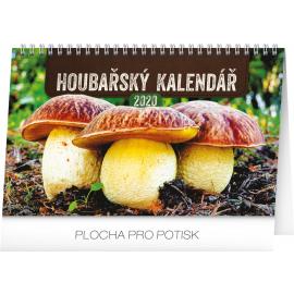 Stolní Houbařský kalendář 2020, 23,1 × 14,5 cm
