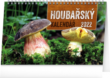 Stolní Houbařský kalendář 2022, 23,1 × 14,5 cm