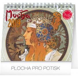 Desk calendar Alphonse Mucha 2019, 16,5 x 13 cm