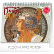 Stolní kalendář Alfons Mucha 2019, 16,5 x 13 cm