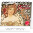 Stolní kalendář Alfons Mucha 2020, 16,5 × 13 cm