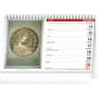 Stolní kalendář Alfons Mucha 2021, 23,1 × 14,5 cm