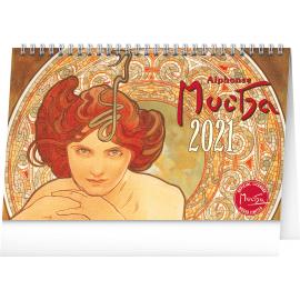 Desk calendar Alphonse Mucha 2021, 23,1 × 14,5 cm