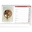 Stolní kalendář Alfons Mucha 2022, 23,1 × 14,5 cm