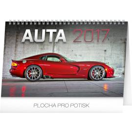 Stolní kalendář Auta 2017, 23,1 x 14,5 cm