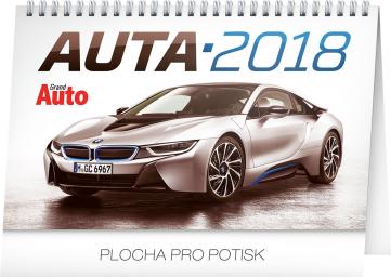 Stolní kalendář Auta 2018, 23,1 x 14,5 cm