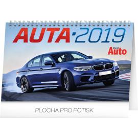 Stolní kalendář Auta 2019, 23,1 x 14,5 cm