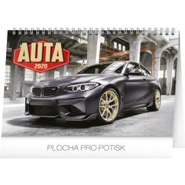 Stolní kalendář Auta 2020, 23,1 × 14,5 cm