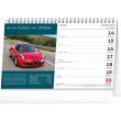 Stolní kalendář Auta 2021, 23,1 × 14,5 cm