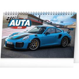 Desk calendar Cars 2021, 23,1 × 14,5 cm