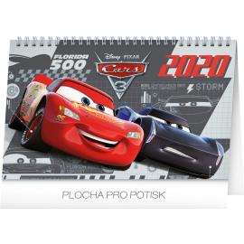 Stolní kalendář Auta 3 2020, 23,1 × 14,5 cm