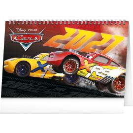 Stolní kalendář Auta 3 2021, 23,1 × 14,5 cm