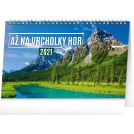 Stolní kalendář Až na vrcholky hor 2021, 23,1 × 14,5 cm