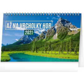 Desk calendar Sitting on the Top of the World 2021, 23,1 × 14,5 cm