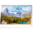 Stolní kalendář Až na vrcholky hor 2022, 23,1 × 14,5 cm