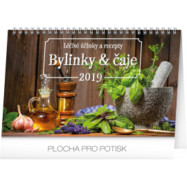Desk calendar Herbs and tea 2019, 23,1 x 14,5 cm