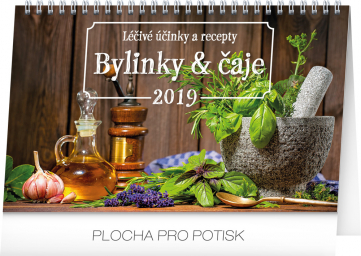 Stolní kalendář Bylinky a čaje 2019, 23,1 x 14,5 cm