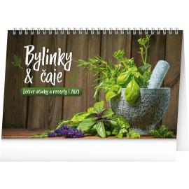 Desk calendar Herbs and Tea 2021, 23,1 × 14,5 cm