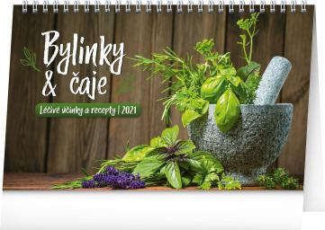 Stolní kalendář Bylinky a čaje 2021, 23,1 × 14,5 cm