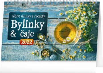 Stolní kalendář Bylinky a čaje 2022, 23,1 × 14,5 cm