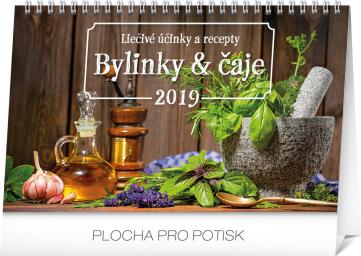 Stolní kalendář Bylinky a čaje SK 2019, 23,1 x 14,5 cm