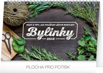 Stolní kalendář Bylinky – rady a tipy 2018, 23,1 x 14,5 cm