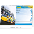 Stolní kalendář Cars 2018, 23,1 x 14,5 cm