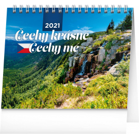 Desk calendar My Beautiful Czechia 2021, 16,5 × 13 cm