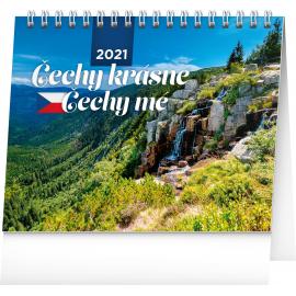 Desk calendar My Beautiful Czechia 2021, 16,5 × 13 cm