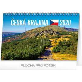 Desk calendar Landscape of Czech Republic 2020, 23,1 × 14,5 cm
