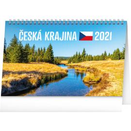 Desk calendar Landscape of Czech Republic 2021, 23,1 × 14,5 cm