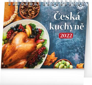 Stolní kalendář Česká kuchyně 2022, 16,5 × 13 cm