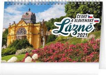 Stolní kalendář České a slovenské lázně 2021, 23,1 × 14,5 cm