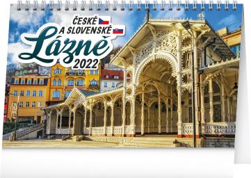 Stolní kalendář České a slovenské lázně 2022, 23,1 × 14,5 cm