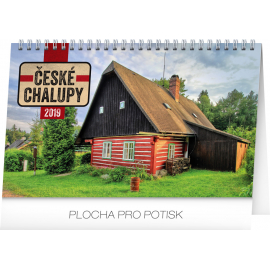 Desk calendar Czech cottages 2019, 23,1 x 14,5 cm