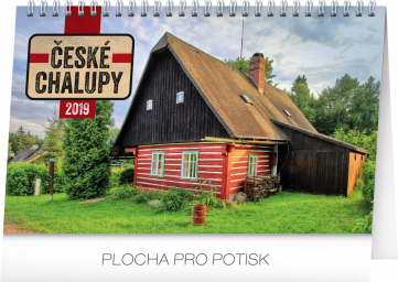 Stolní kalendář České chalupy 2019, 23,1 x 14,5 cm