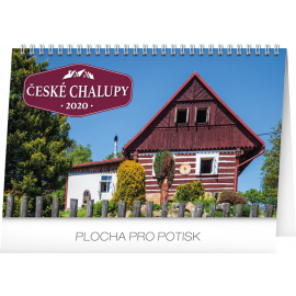 Desk calendar Czech cottages 2020, 23,1 × 14,5 cm