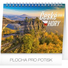 Desk calendar České hory 2018, 16,5 x 13 cm