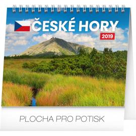 Stolní kalendář České hory 2019, 16,5 x 13 cm