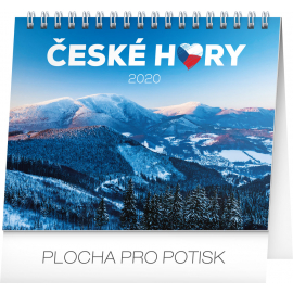 Desk calendar Czech mountains 2020, 16,5 × 13 cm