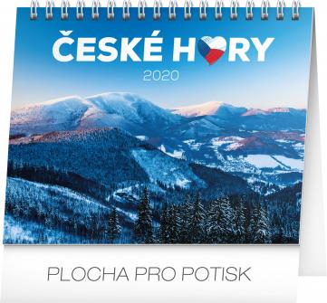 Stolní kalendář České hory 2020, 16,5 × 13 cm