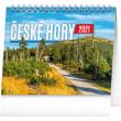 Stolní kalendář České hory 2021, 16,5 × 13 cm