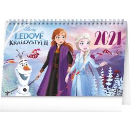 Stolní kalendář Frozen – Ledové království II 2021, 23,1 × 14,5 cm