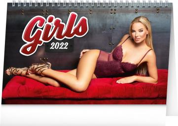 Stolní kalendář Girls 2022, 23,1 × 14,5 cm