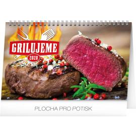 Stolní kalendář Grilujeme 2020, 23,1 × 14,5 cm