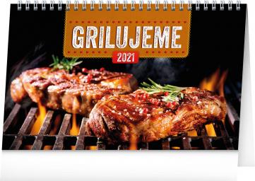Stolní kalendář Grilujeme 2021, 23,1 × 14,5 cm