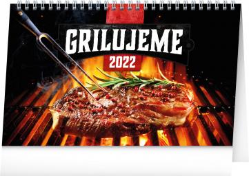 Stolní kalendář Grilujeme 2022, 23,1 × 14,5 cm