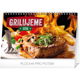 Desk calendar Grilling SK 2019, 23,1 x 14,5 cm
