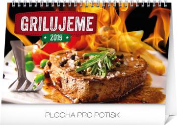 Stolní kalendář Grilujeme SK 2019 , 23,1 x 14,5 cm